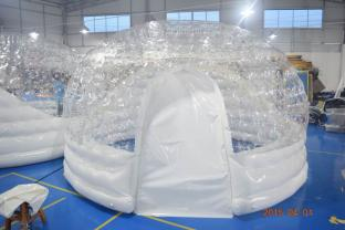 Durable PVC Igloo Airtight Inflatable Clear Bubble Tent For Trade Show