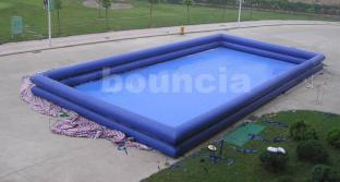 Blue Color Outdoor Inflatable Water Pool With Two Layers
