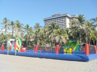 Portable Inflatable Water Park With Big Pool And Slide, Pool Inflatable Water Park For Land