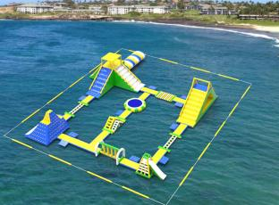 Giant Inflatable Water Park For Lake Resort, Inflatable Floating Water Park For Adults, Big Inflatable Water Park Games
