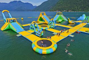 Harrison Giant Inflatable Water Park Games For Adults / Water Park Equipment Price From Bouncia