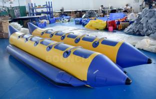 Double Tubes Inflatable Water Banana Boat With Repair Kit