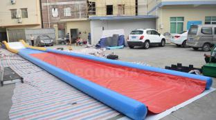 Air Sealed Inflatable Water Slides For Lakeside / Inflatable Slip N Slide