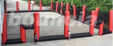 Inflatable Paintball Arena , Inflatable Paintball Court For Sport Games