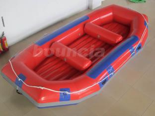 Red Inflatable Rafting Boat , White Water Raft For Lake