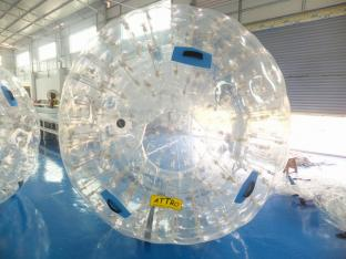 Customized PVC Or TPU Material Water Zorb Ball For Water Games