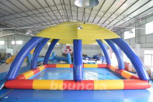 Large Inflatable Water Pool With Tent Cover