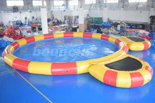 0.9mm PVC Inflatable Pool With Platform For Water Walking Ball