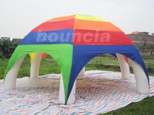 Colorful Inflatable Air-sealed Dome Tent , Arch Lawn Tent For Activity