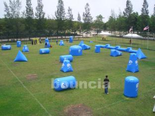 Commercial Grade Inflatable Paintball Obstacle , Inflatable Bunker For Fun