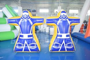 Blue Color Inflatable Paintball Obstacle For Paintball Field