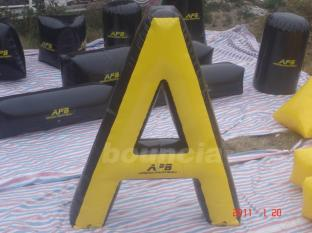 """ A"" Shape Tactical Inflatable Air Bunkers For Paintball Games"