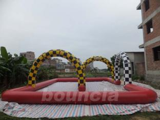 Durable PVC Tarpaulin Inflatable Zorb Ball Track For Commercial Use