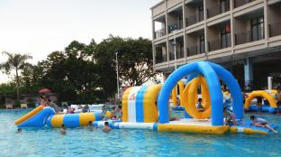 Inflatable Water Park For Pool Party, Inflatable Water Games For Rental Business