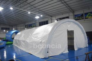 White Outdoor Airtight Inflatable Tent Made Of 0.9mm PVC Tarpaulin