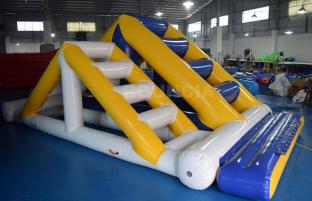 0.9mm PVC Tarpaulin Inflatable Double Ladder For Water Sport Games