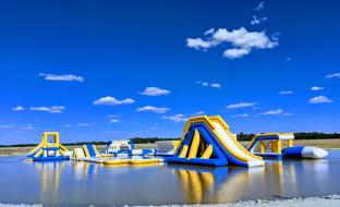 2019 New Inflatable Commercial Water Splash Park / Floating Water Playground Equipment In Australia