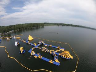 Free Customized Design Inflatable Commercia Water Obstacle Course