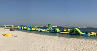 Bouncia 350 Capacity Inflatable Water Park Equipment Price For Sea