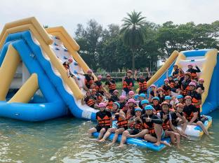 Taiwan Floating Inflatable Water Park Game Made By Bouncia
